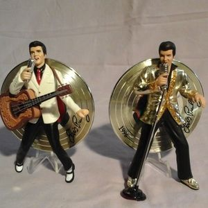 Set of 2 Elvis Presley musical ornaments